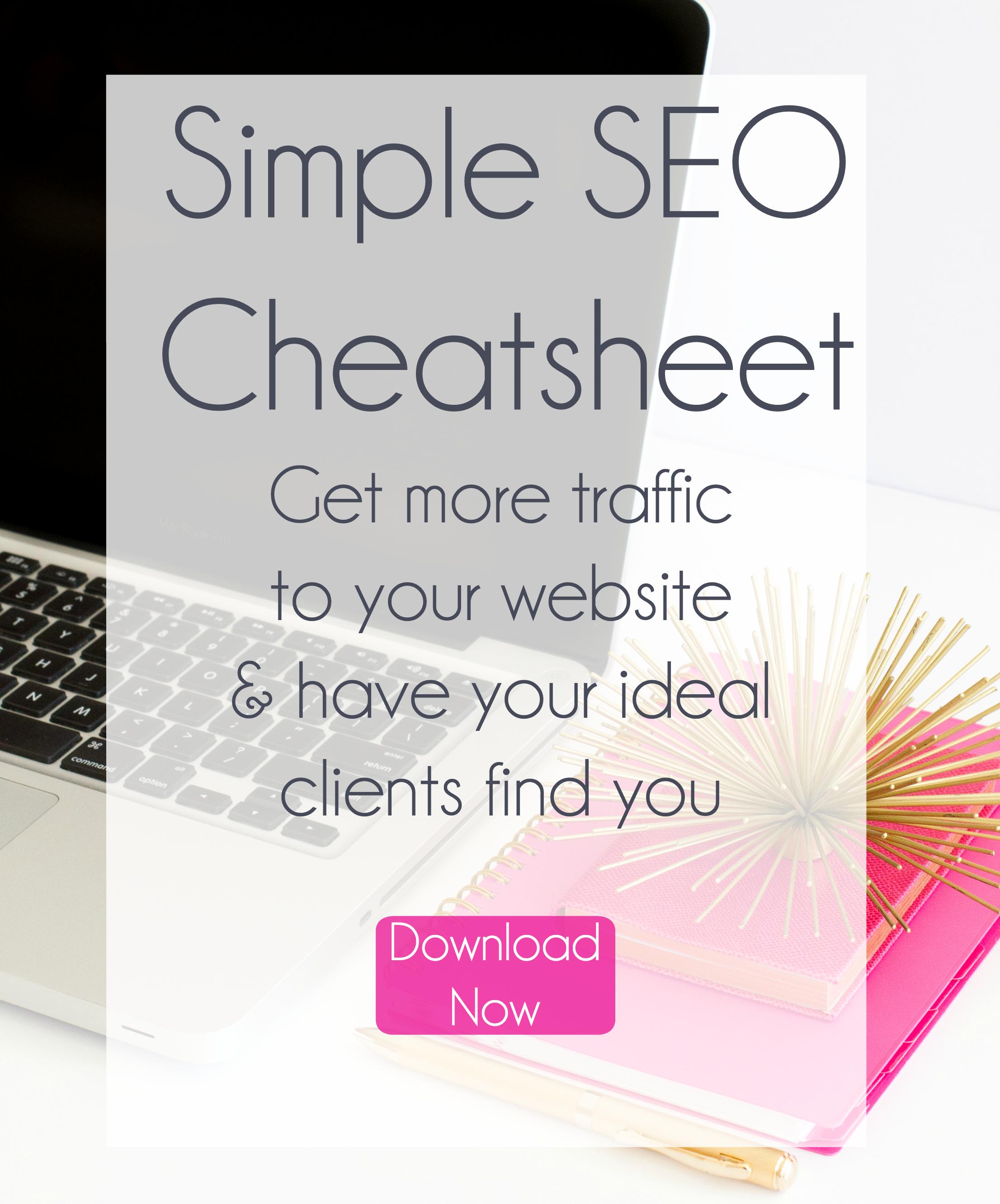 get more traffic to your website seo cheatsheet