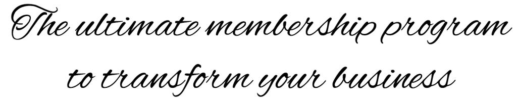 membership program transform business
