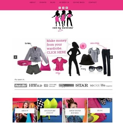 raid my wardrobe website design