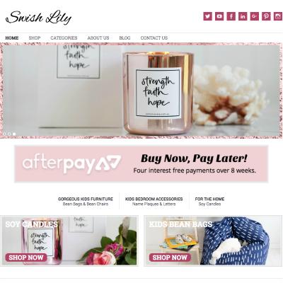 swish lily wordpress website design
