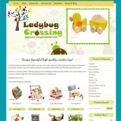 wordpress website design ladybug crossing toys