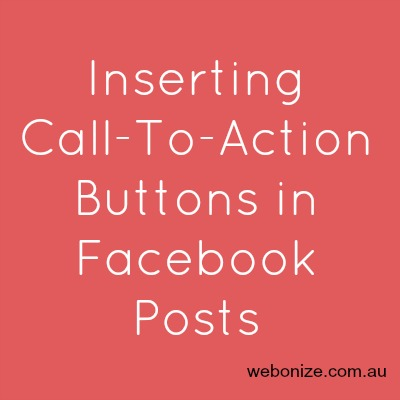 Call To Action Buttons for Facebook Pages