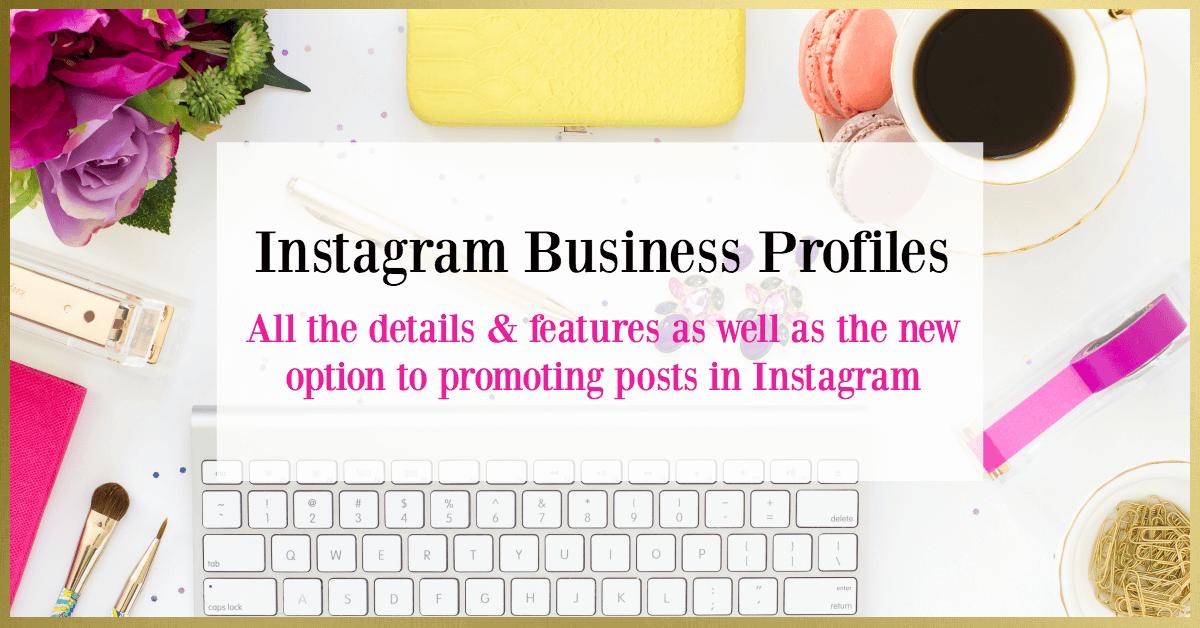 instagram business profiles promoting posts