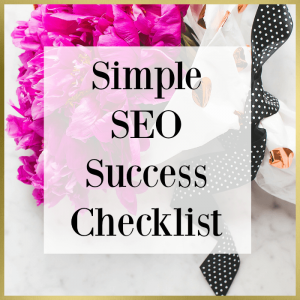 simple seo success checklist