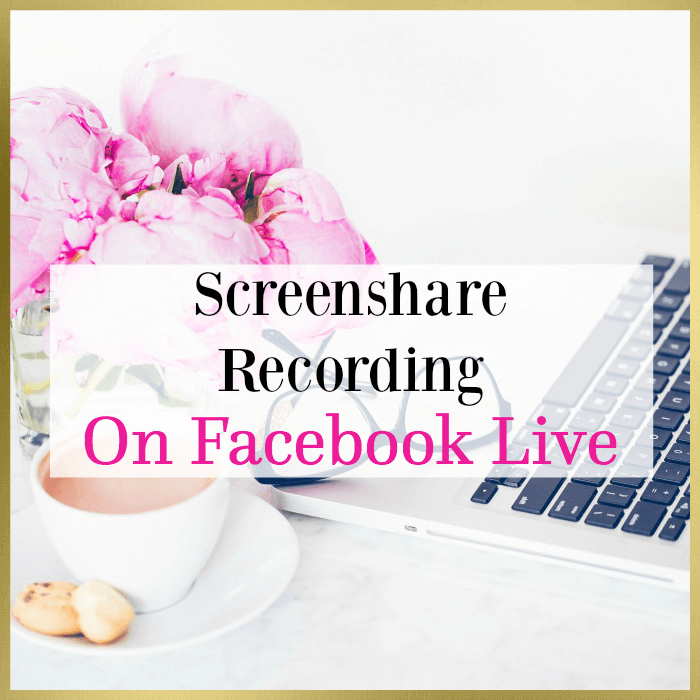 Screenshare On Facebook Live