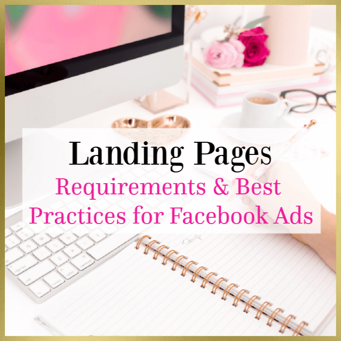 landing page requirements for facebook ads