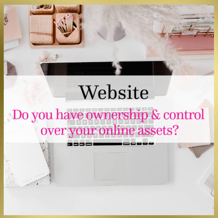 Do you have ownership & control over your online assets?